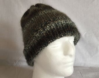 Hand knit men Hat