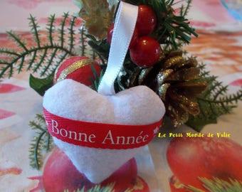 "White heart ""Happy new year"""