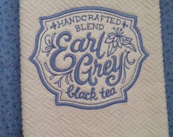 EARL GREY TEA Kitchen Towel