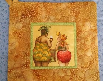 HOT PAD - Fruit Bottom Ladies - Pot Holder