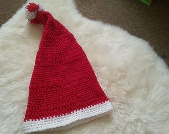 Santa hat, hand knitted