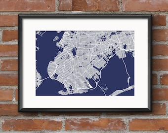 Brooklyn art etsy brooklyn map art print nyc blueprint brooklyn map brooklyn art malvernweather Image collections