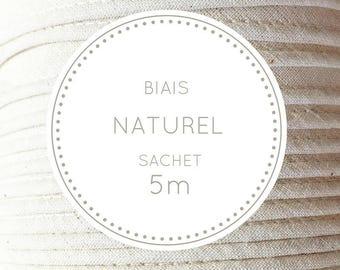 Sachet 5 m bias - natural