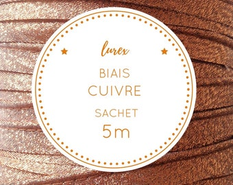 Sachet 5 m bias lurex - copper