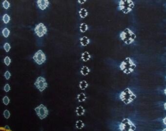 FABRIC INDIGO dyed hands 60 cm x 158 cm