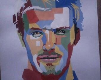 David Beckham Portrait - Pop Art