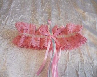 Garter wedding lace color pink