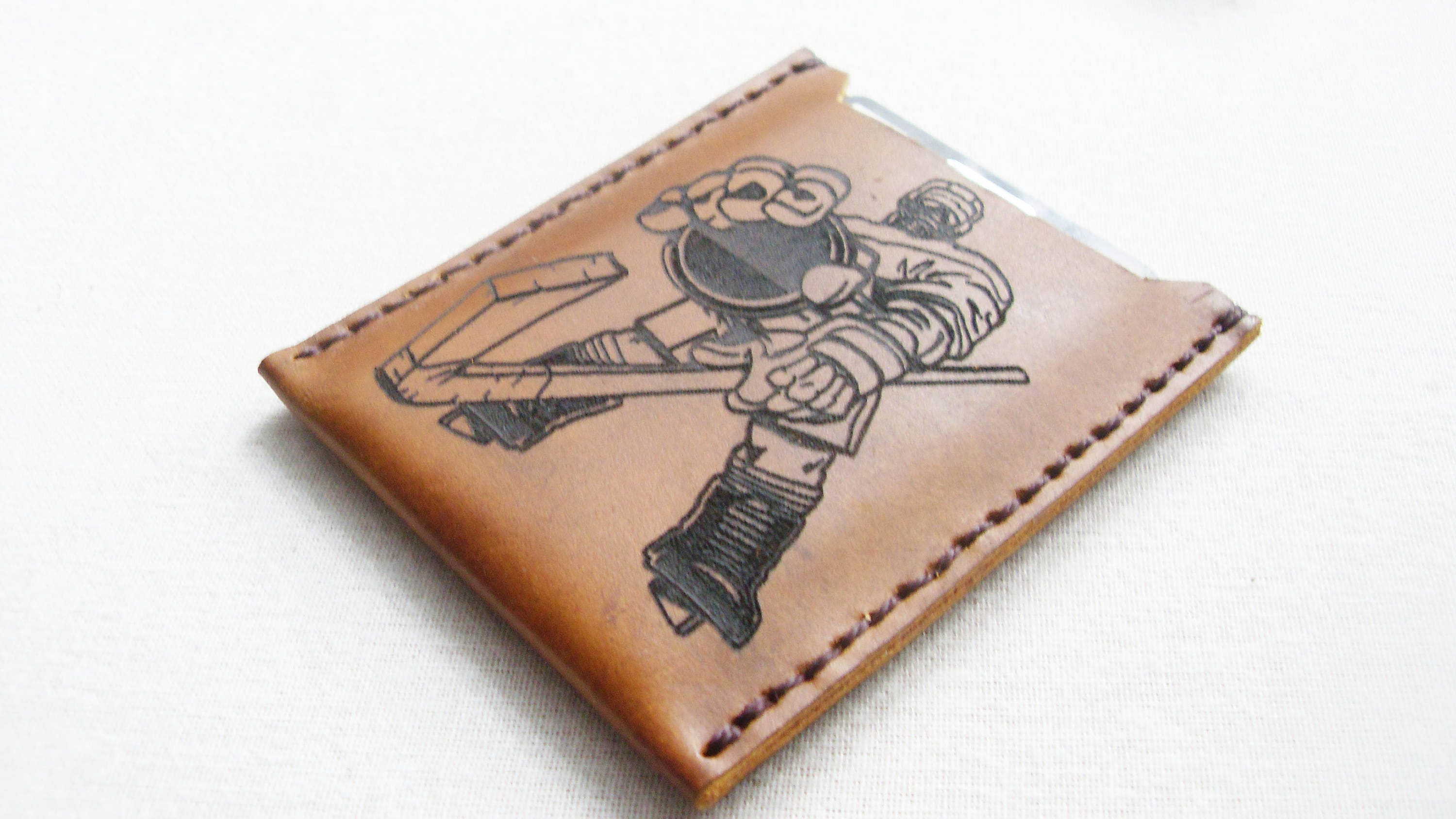 Leather wallet Leather Card Holder FREE MONOGRAM Business card