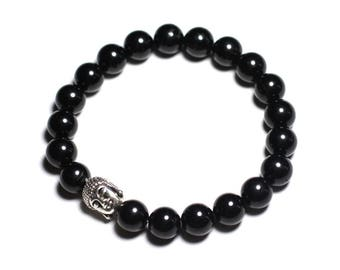 Buddha and gemstone - black Tourmaline bracelet