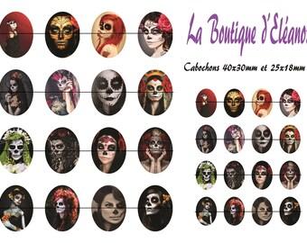#Diosdelamuerte1 - Board of digital images for cabochon