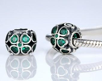 A24 Authentic 925 Sterling Silver Charm Flower Fits European & Pandora Charm Bracelet