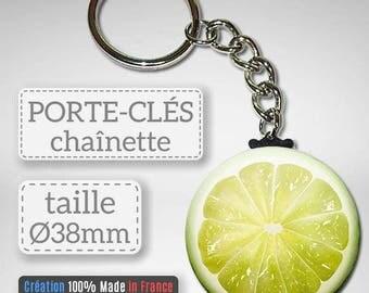 Key Fruit green Lemon Lime citrus idea gift Badge 38 mm