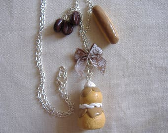 """Necklace """"at the coffee"""" - (fimo)"""
