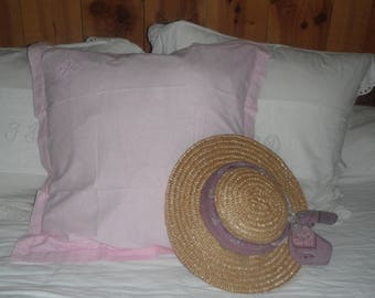 Dyed in pale pink vintage pillowcase