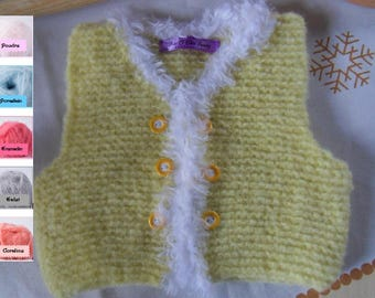 Vest / yellow Bolero for baby 0 to 1 month