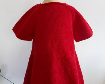 Red 12 month dress