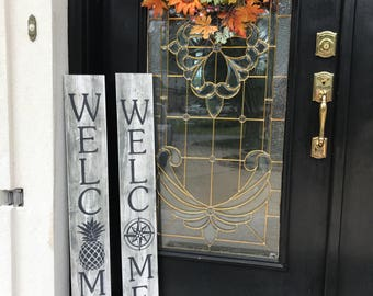 Welcome Signs custom front door signs holiday signs Nautical Coordinates,home sweet home,Rustic,Wooden Signs,Welcome Pineapple,Home Map