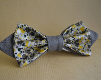 Gray and liberty bow tie
