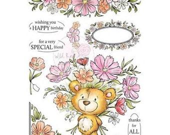 Wild Rose Studio A5 Set Milton new clear stamp