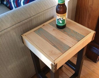 Wood-Grain Side Table: Tap Time