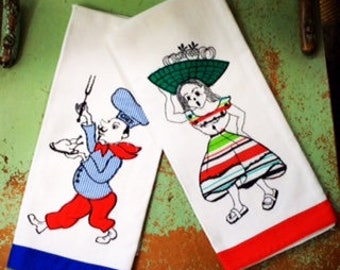 VINTAGE KITCHEN TOWELS