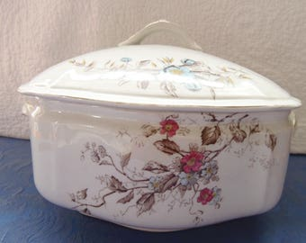 W & E CORN, IRONSTONE TRANSFERWARE Soup Tureen