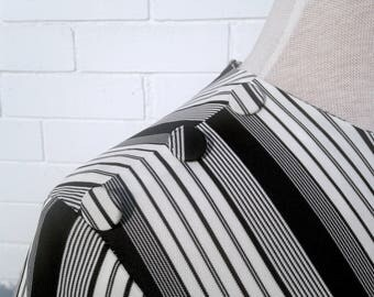 1960s/1970s Black and White Striped Dress