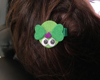 "Beautiful barrette ""birdie"" felt"