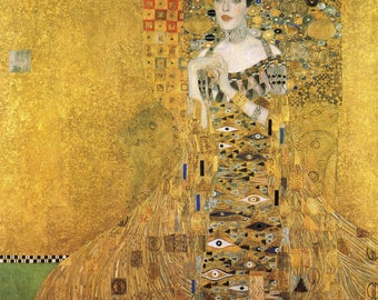 "gustuv klimt woman in gold 39"" x39"" art painting print quality large reproduction"