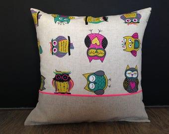 OWL kids pillow cover