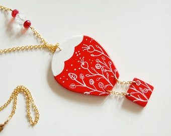 hand painted balloon necklace