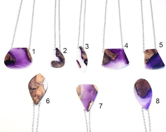 necklaces and collars - necklace - purple - resin