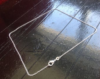Chain is 40 cm Sterling Silver 925 mesh Simple
