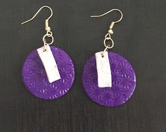 Earrings in dough fimo girl costume jewelry