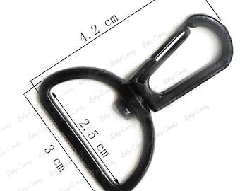 6 ring hook Pivotant / 42 x 30 mm / shoulder bag shoulder strap attachment #7277