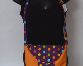 MINI shoulder bag in cotton with multicolored dots