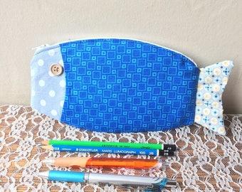 Fish shaped pencil case - pouch multiusage
