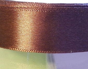 5 Metters Brown 20mm wide satin ribbon
