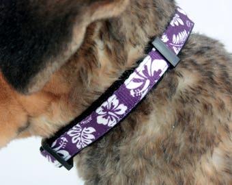 Medium Purple Hawaiian Breeze Dog Collar