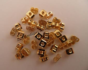 100 CLASPS EARRINGS metal dore - creating jewelry beads