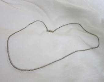 Vintage Steel 24 inch Chain Necklace