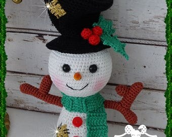 Snowman, crochet, Amigurumi plush