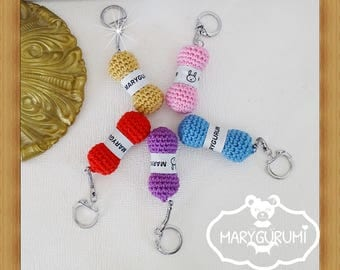 Key fob, Pincushion, Crochet, Amigurumi
