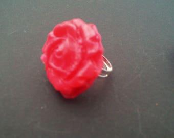 beautiful romantic red rose ring