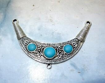 pretty connector pendant ethnic spirit matte bronze color metal antique size 5cmx hollow back 3 cm