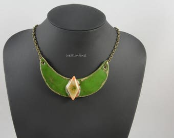 """""""Goddess Outo"""" pendant necklace made of stoneware"""