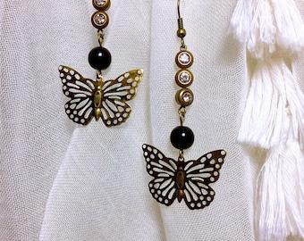 Stylish Bohemian bronze Butterfly earring