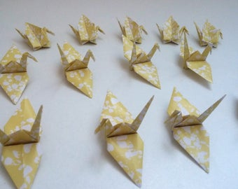 Set of origami cranes: Marble Collection
