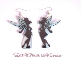 Black and blue fairy earrings