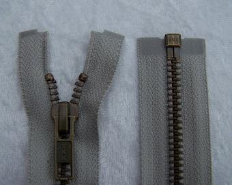 Zip closure, metal, white pepper, 65 cm (Y-576)